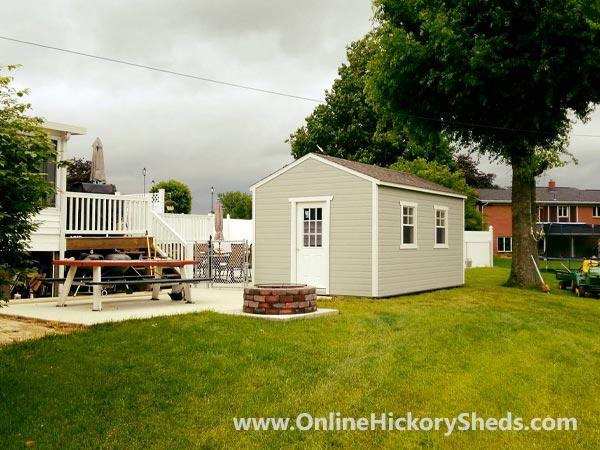 Hickory Sheds Utility Tiny Room Garden Shed