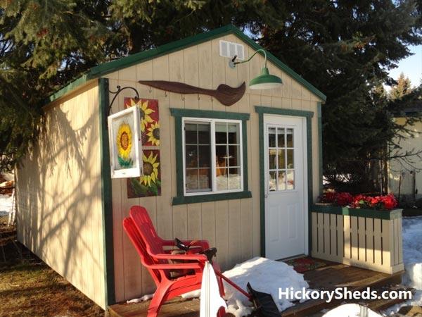 Hickory Sheds Utility Tiny Room Artist Retreat