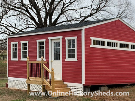 Hickory Sheds Utility Tiny Room Scarlet Red