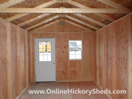 Hickory Sheds Utility Tiny Room Inside Unfinished