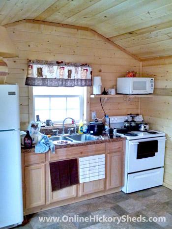 Hickory Sheds Utility Tiny Room Kitchen
