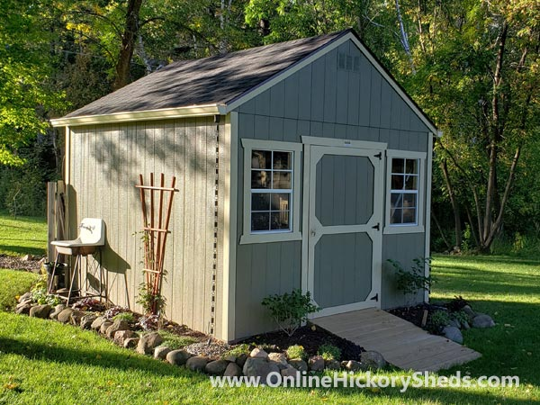 Hickory Sheds Utility Shed with Ramp