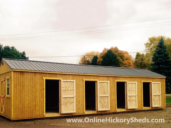 Hickory Sheds Utility Shed 4 Doors