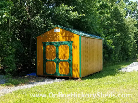 Hickory Sheds Utility Shed with 5 Lite Barn Door