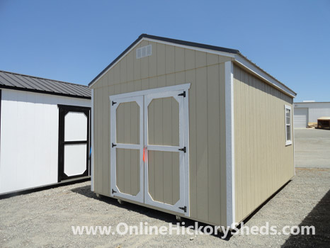 Hickory Sheds Utility Shed Painted Beige