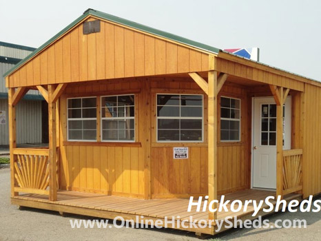 Hickory Sheds Utility Shed with Deluxe Wrap Porch