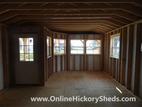 Hickory Sheds Utility Shed with Deluxe Wrap Porch Inside